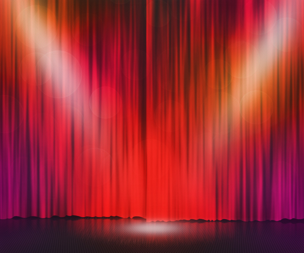 Red Stage Spotlight Background