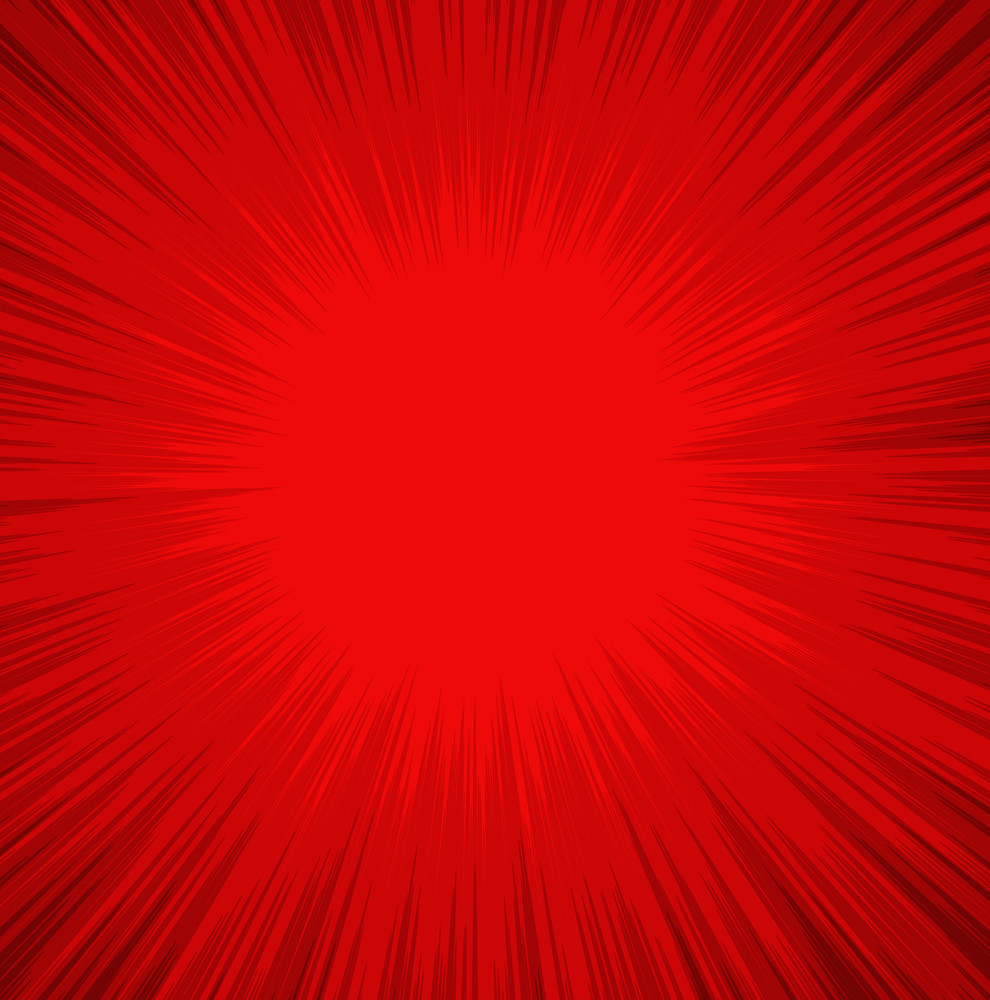 Red Sunburst Background