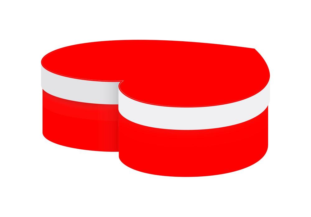 Red Valentine Heart Box