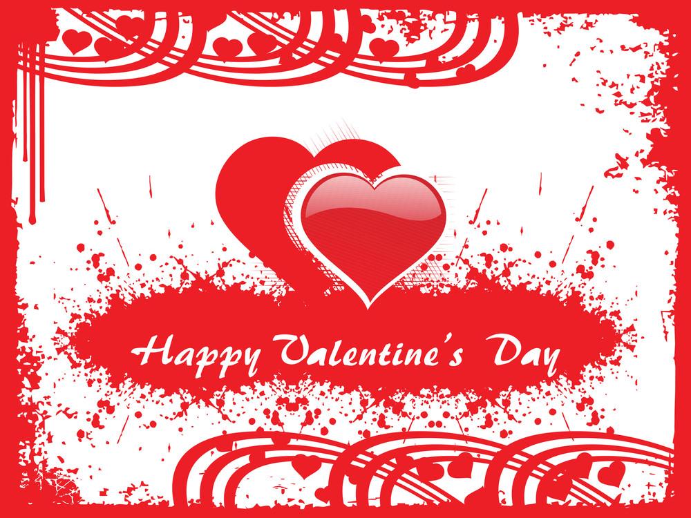 Red Valentine Heart With Grunge