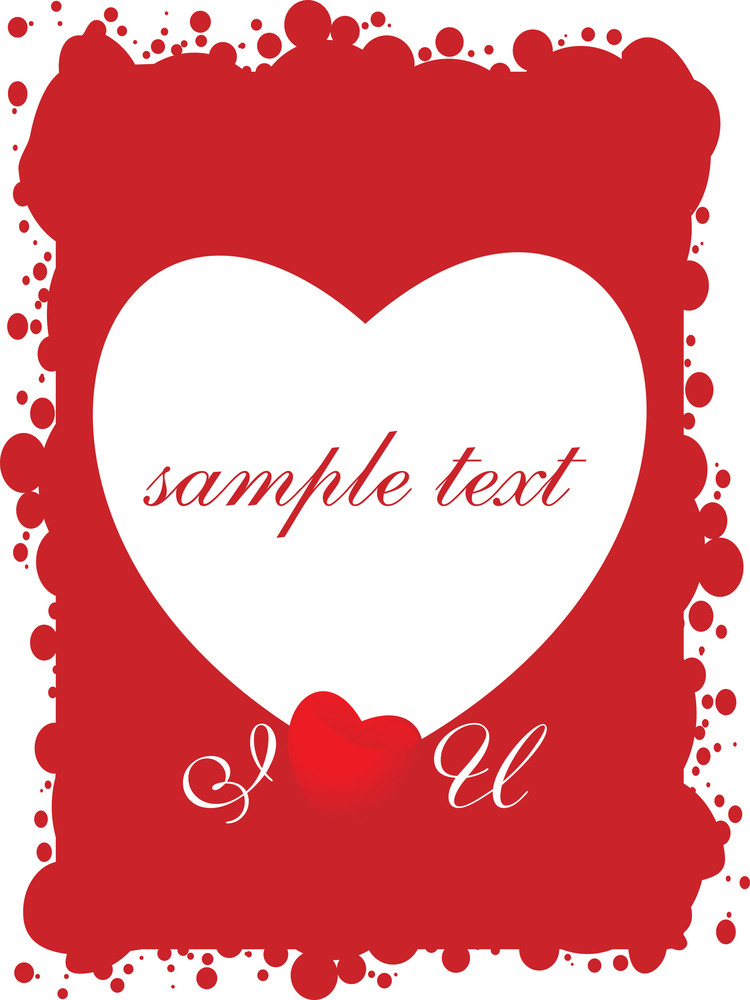 Red Valentines Grungy Card For Sample Text