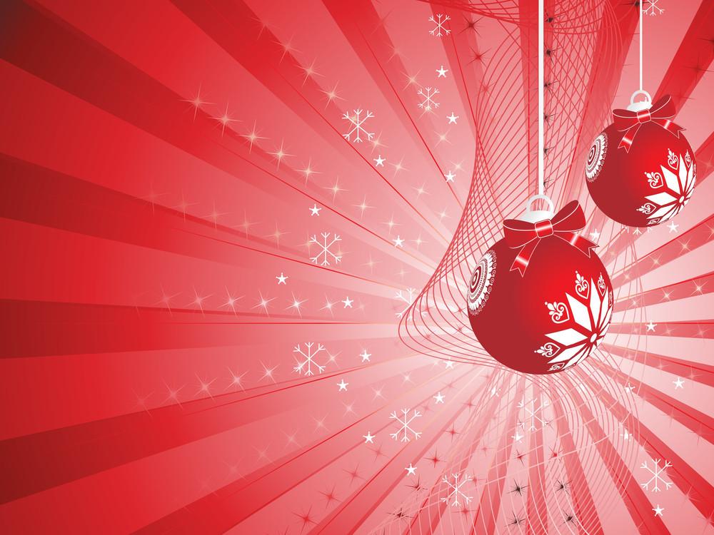 Red Vector Christmas Ball