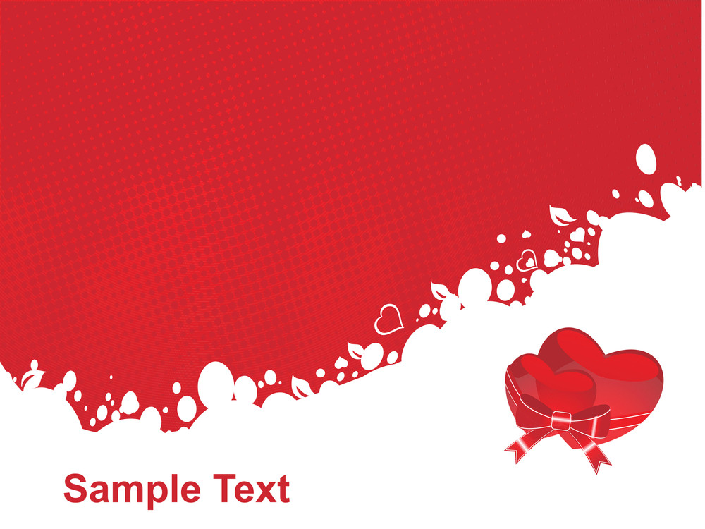 Red Vector Heart Knoted With Ribbon