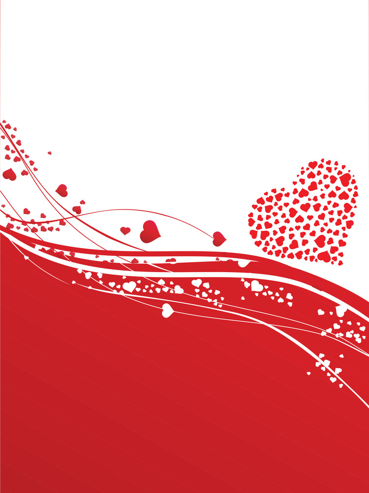 Red Vector Romantic Background