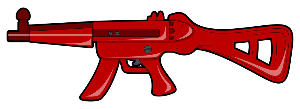 Red Vector Shooting Gun