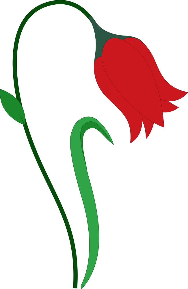 Red Vintage Flower