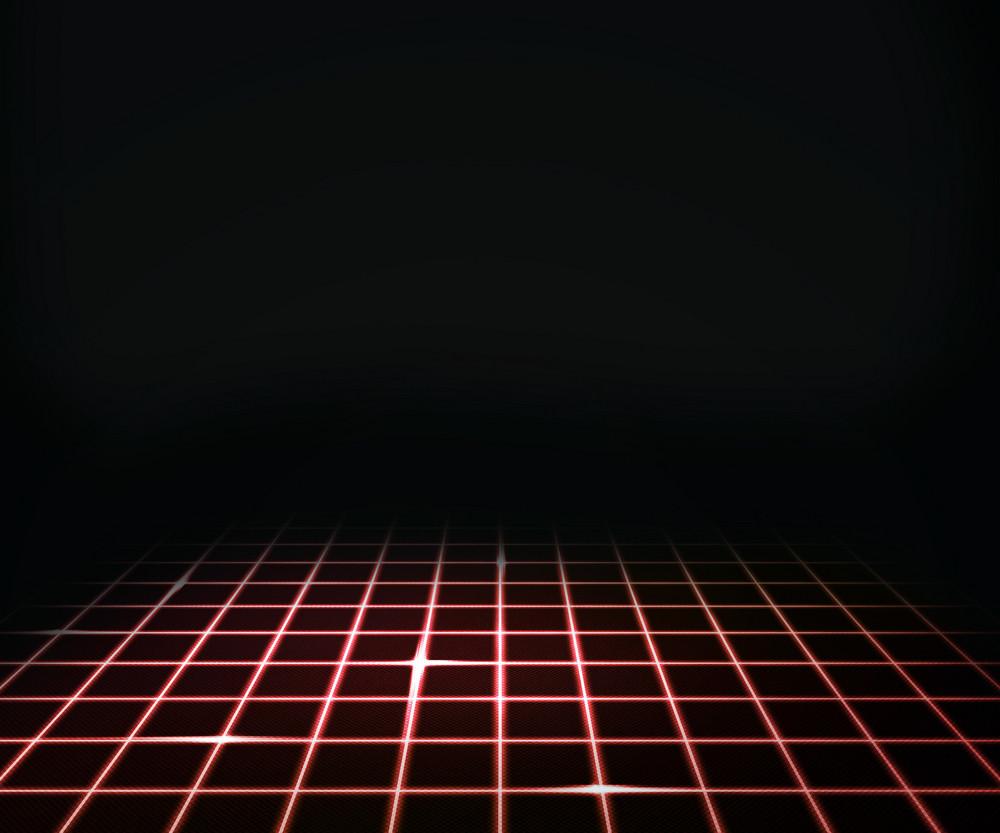 Red Virtual Laser Floor Background