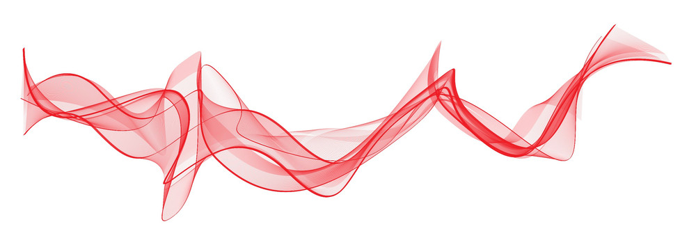 Red Waved Lines