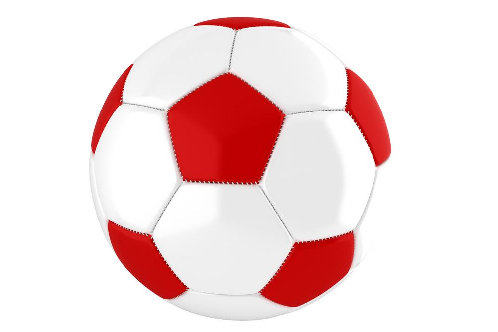 Red-white Soccer Ball