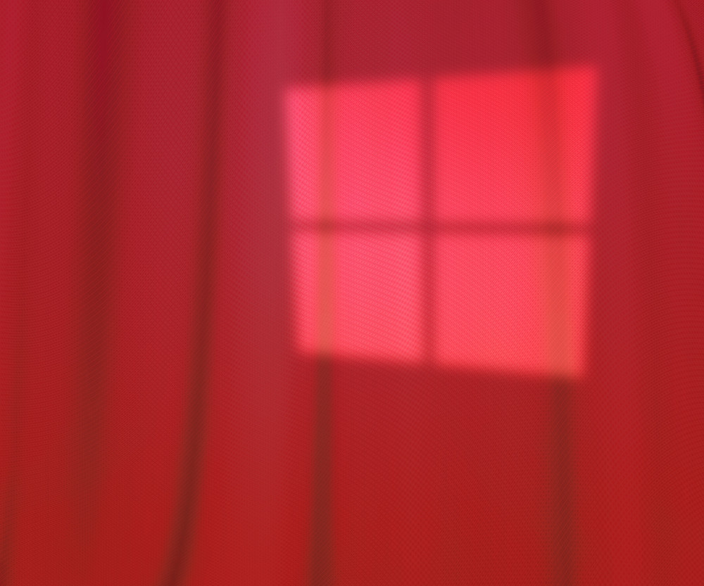 Red Window Lights Studio Backdrop