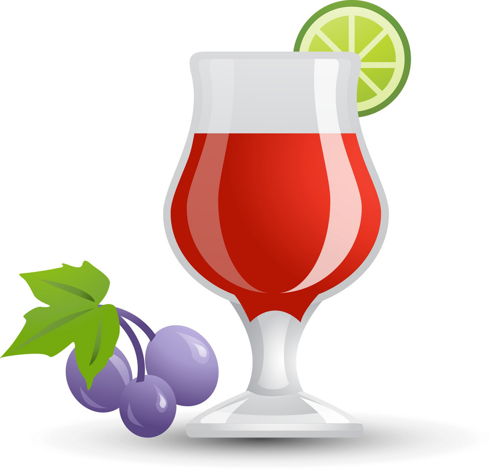 Red Wine Glas Icon 2