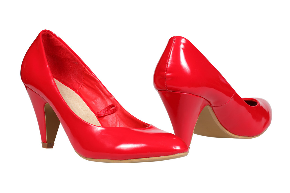 Red Women S Heel Shoes
