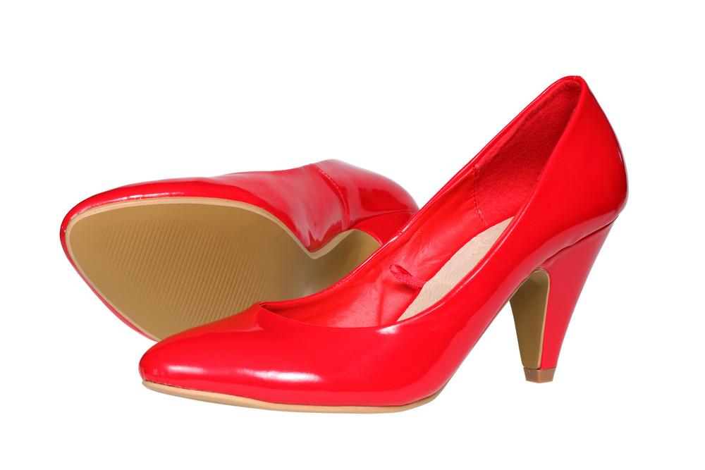 Red Women S Heel Shoes