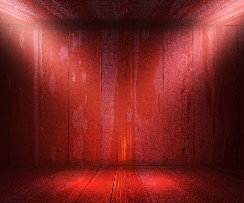 Red Wooden Spotlight Room Background