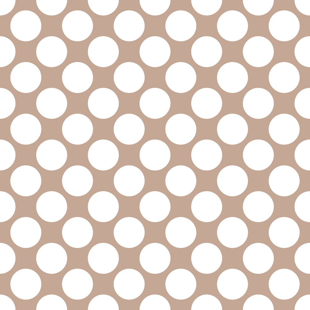 White Polka Dots Pattern On A Brown Background