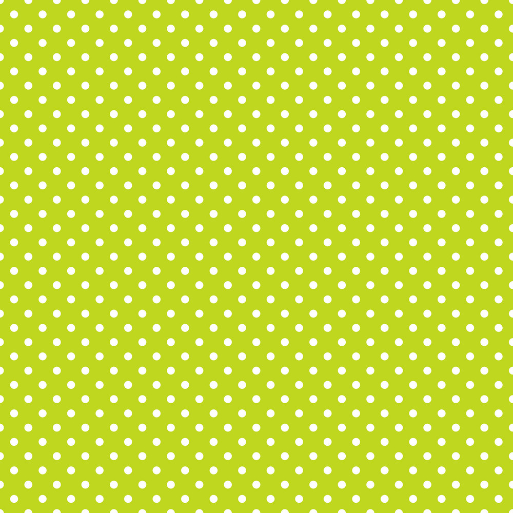 White Polka Dots Pattern On A Green Background