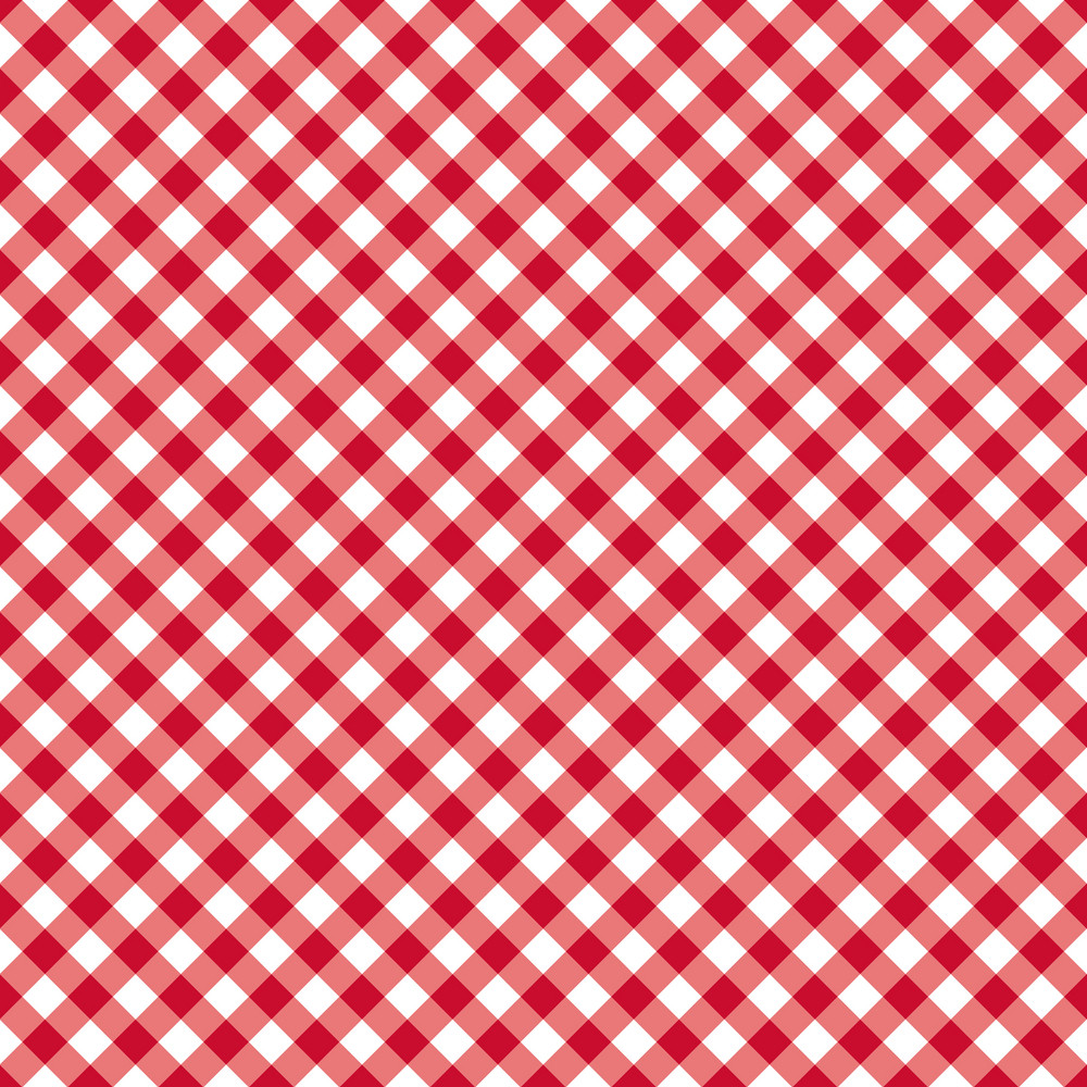 Red And White Gingham Pattern