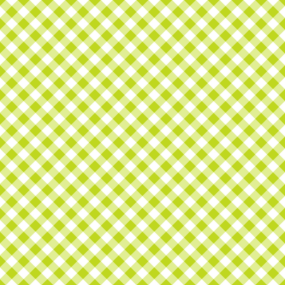 Green And White Gingham Pattern