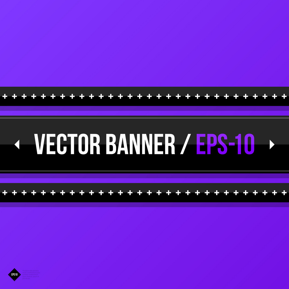Vector Banner Template. Useful For Web Design