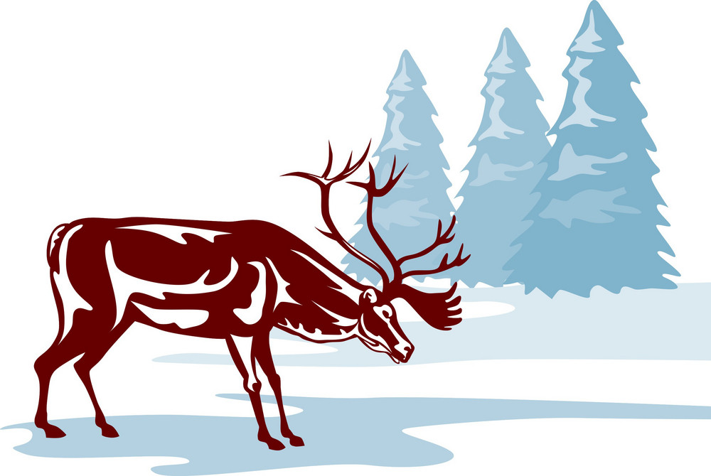 Reindeer Deer Retro