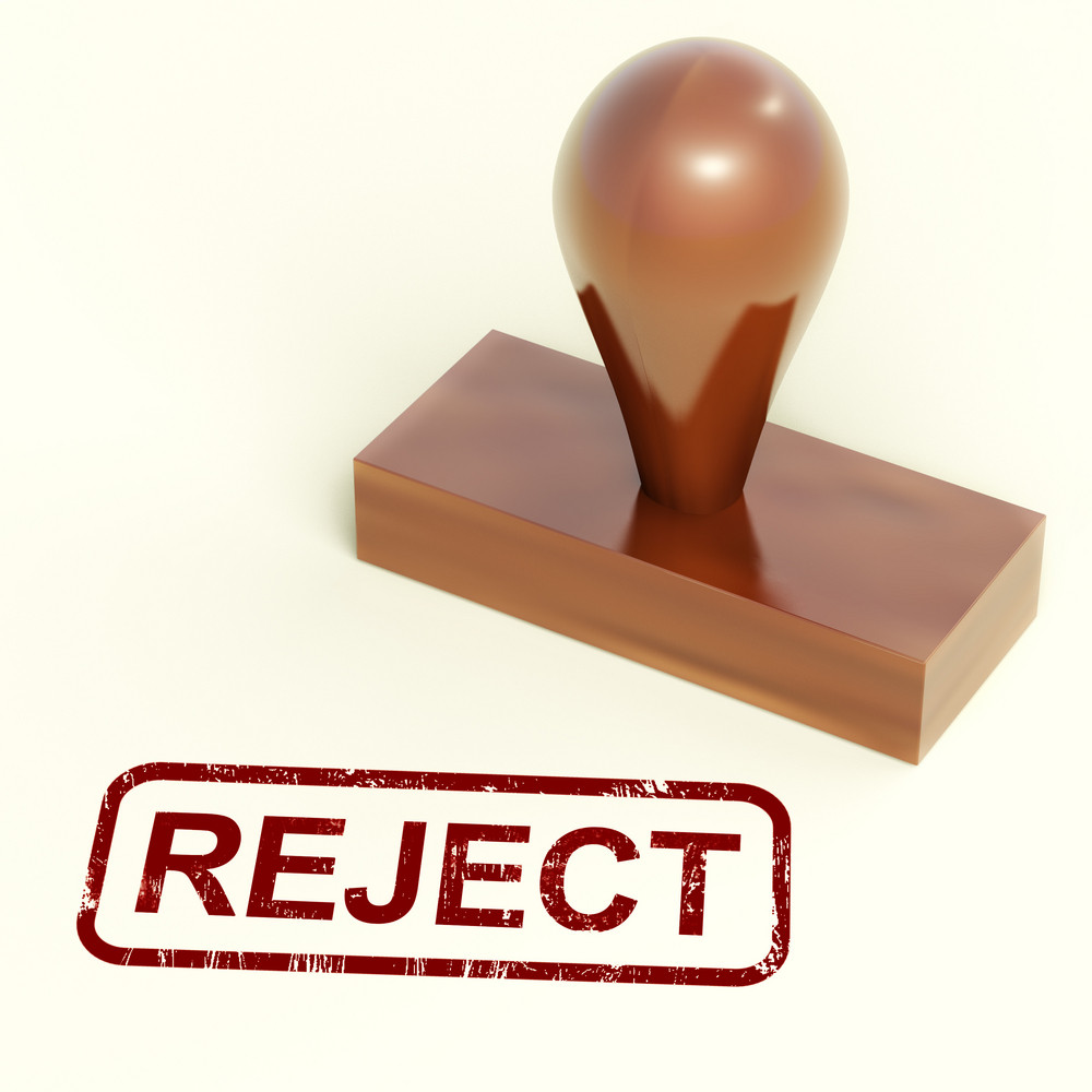 Reject Stamp Showing Rejection Denied Or Refusing