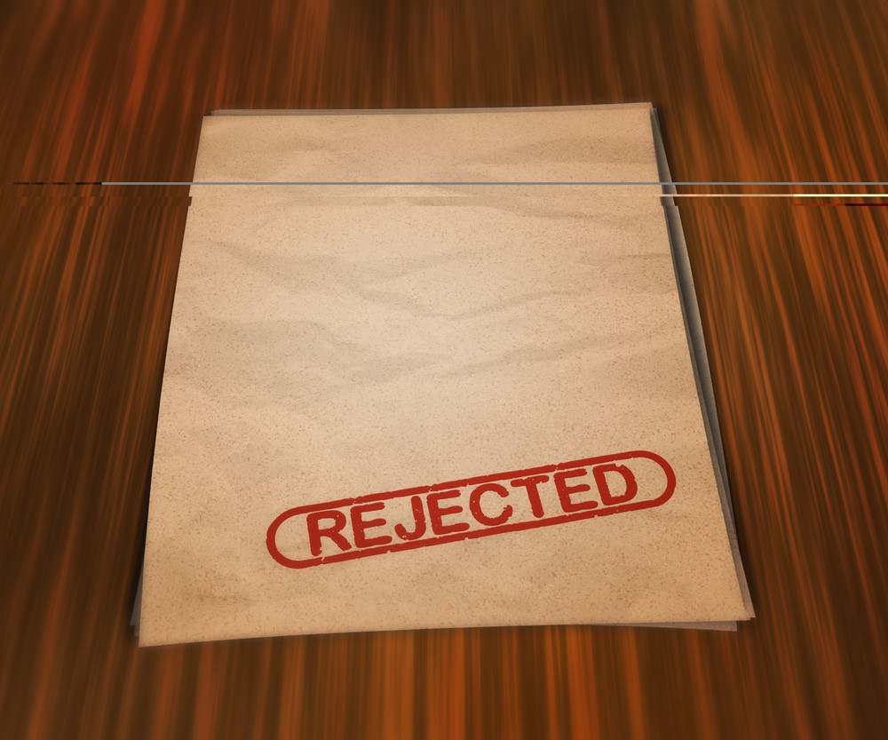 Rejected Document On The Table