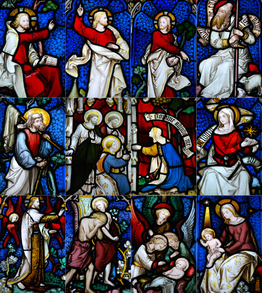 Religious Stained Glass Window Collection