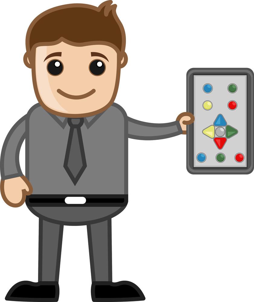 Remote Control - Business Cartoons Vectors