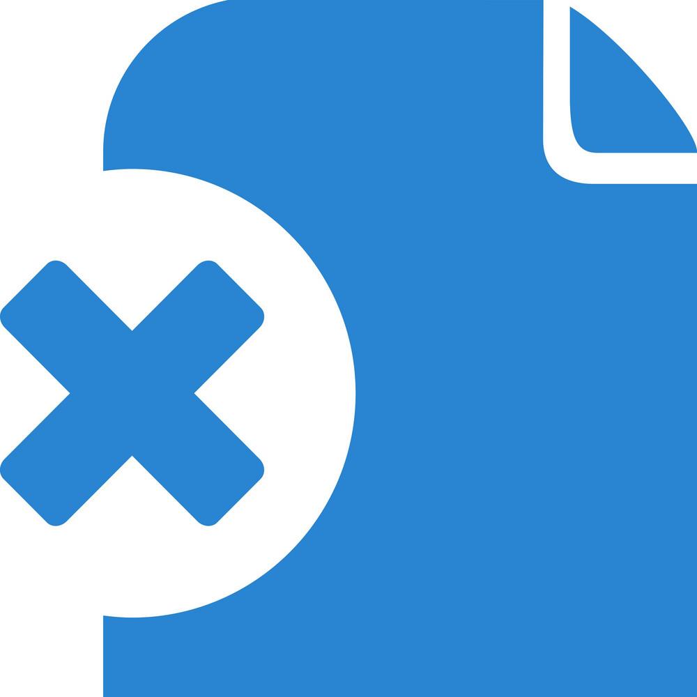 Remove Document Simplicity Icon