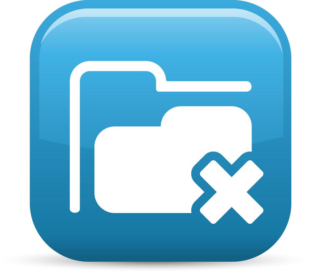 Remove Folder Elements Glossy Icon