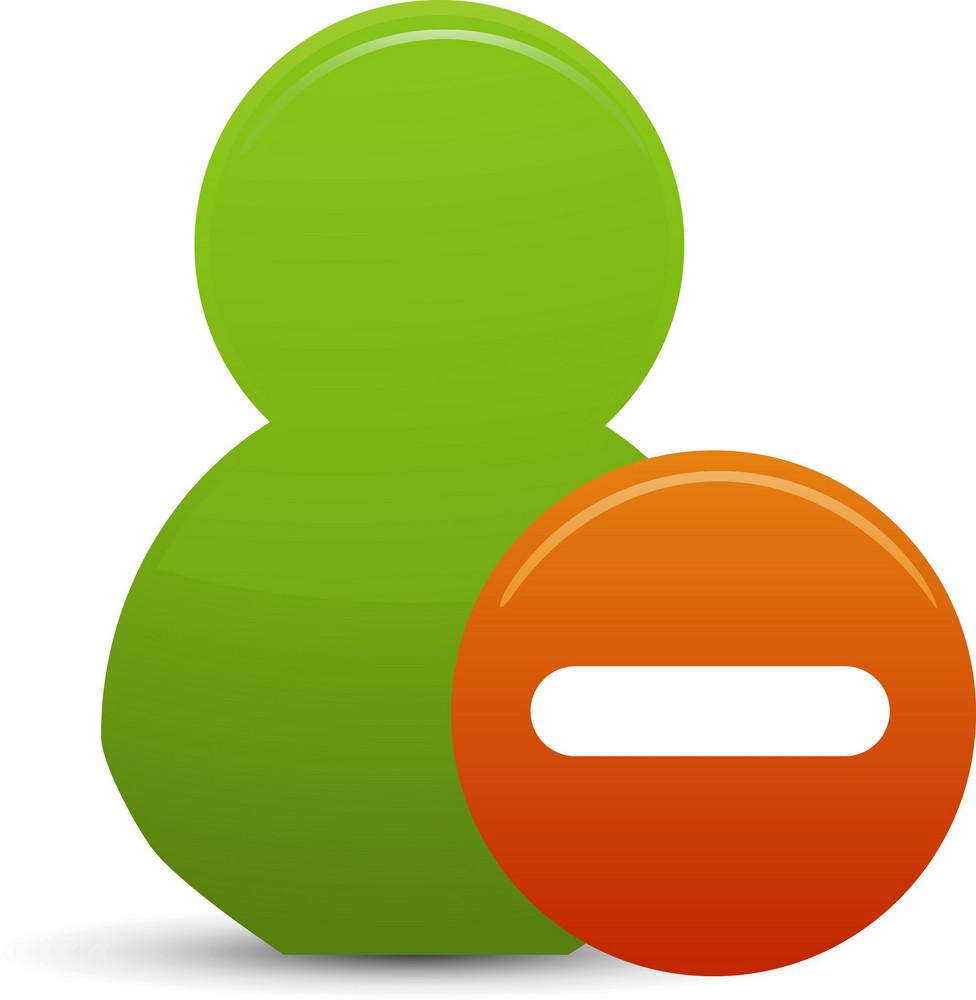 Remove Friend Lite Communication Icon