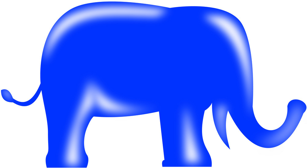 Republican Elephant Mascot