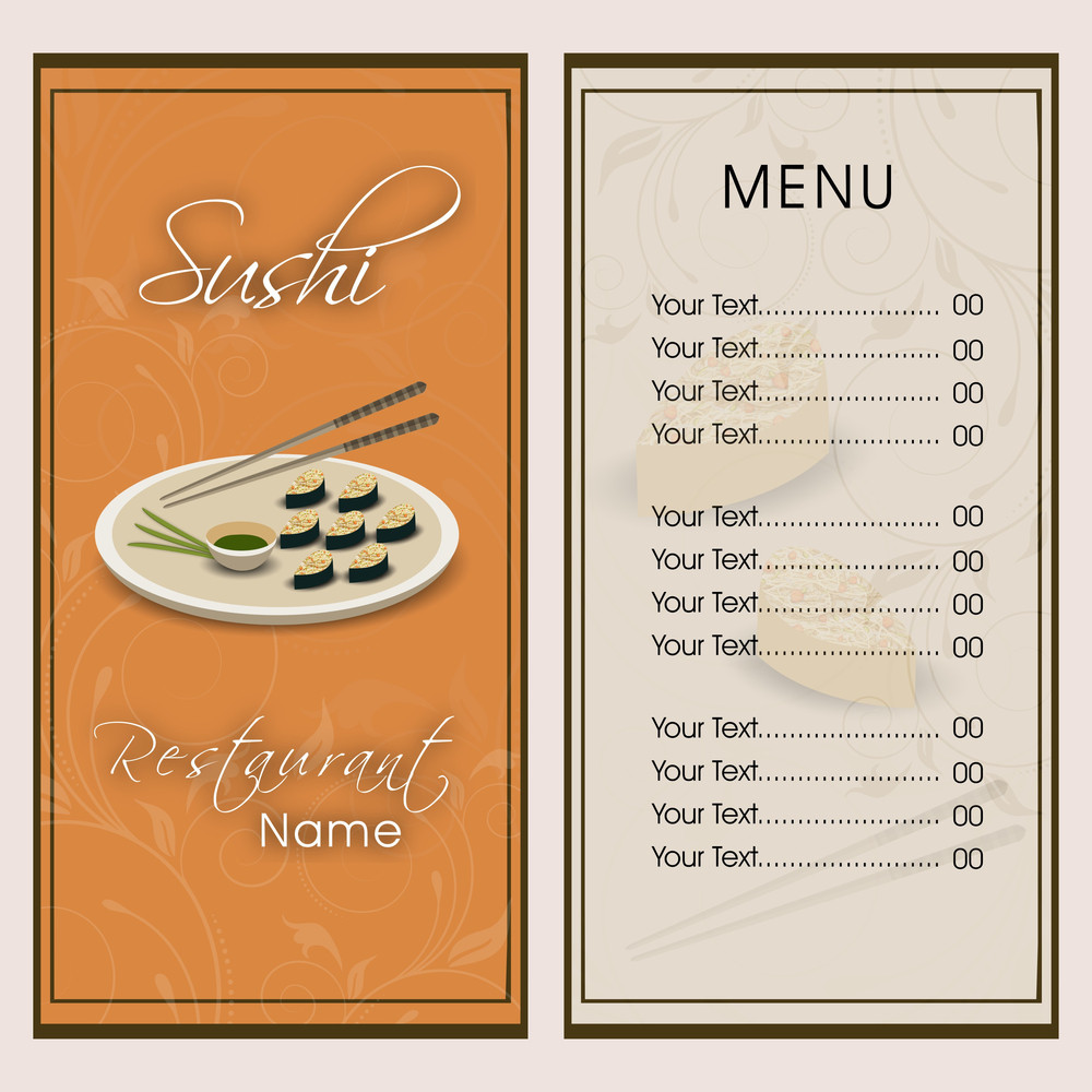 Restaurant Menu Front Cover Design