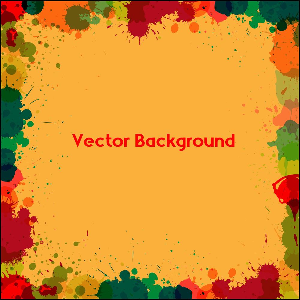 Retro Abstract Drops Border Frame