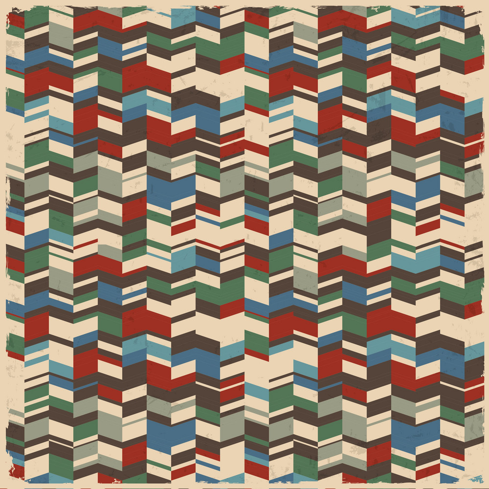 Retro Abstract Geometric Background