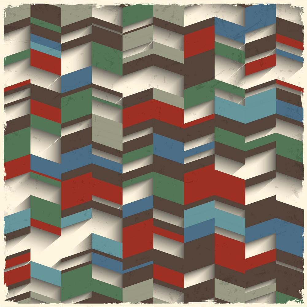 Retro Abstract Geometric Grunge Background