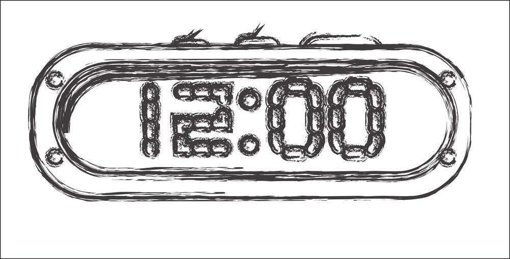 Retro Alarm Clock Sketching