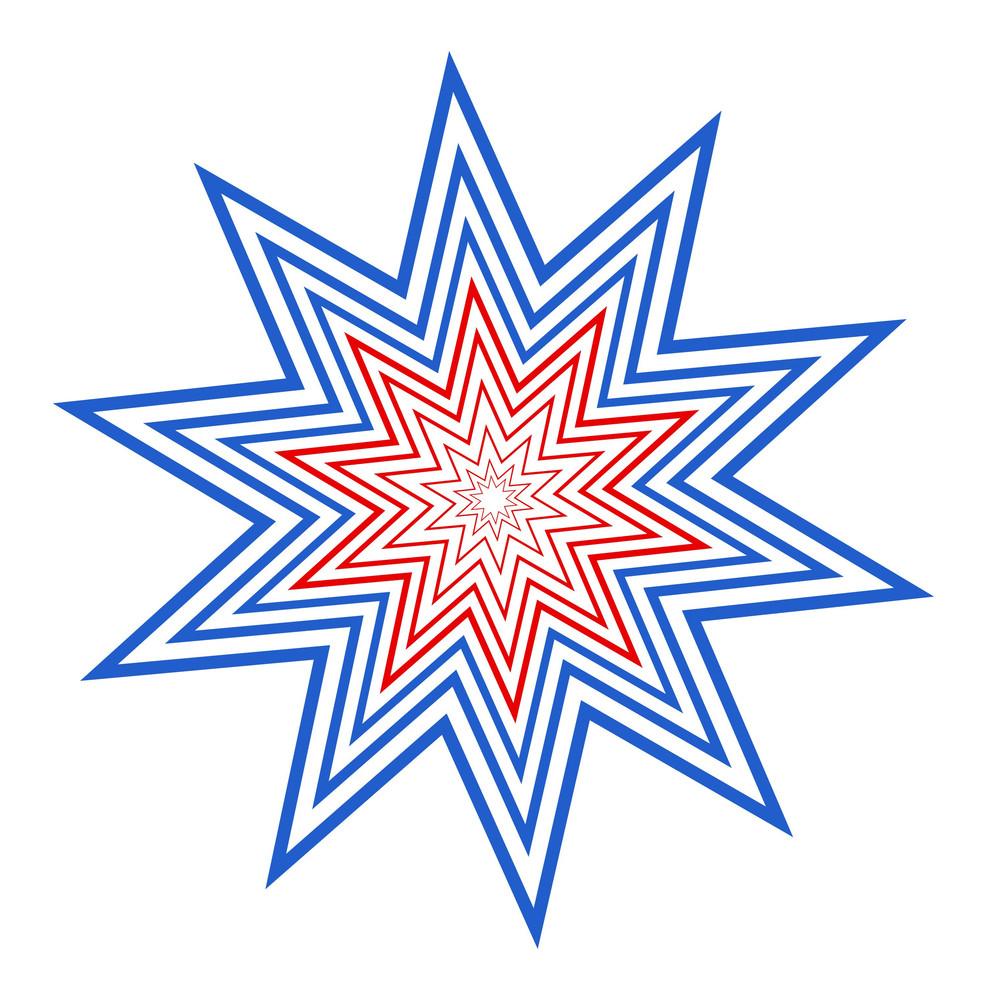 Retro American Celebration Star Design