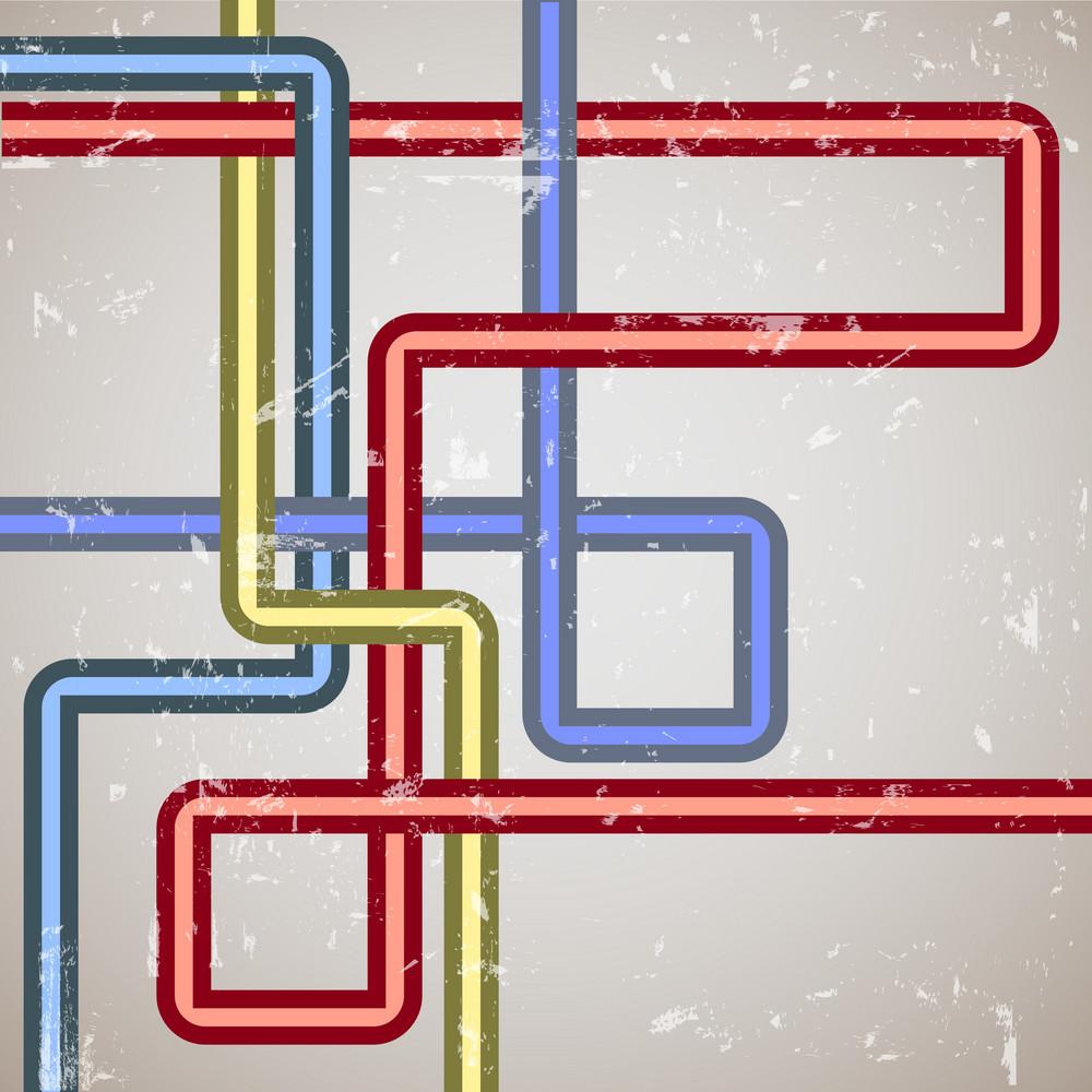 Retro Background Of Lines