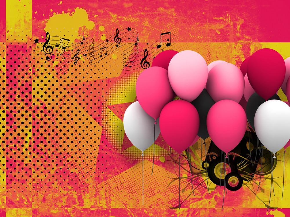 Retro Balloons Background