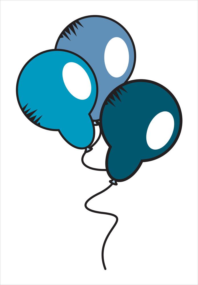 Retro Balloons Vector Set
