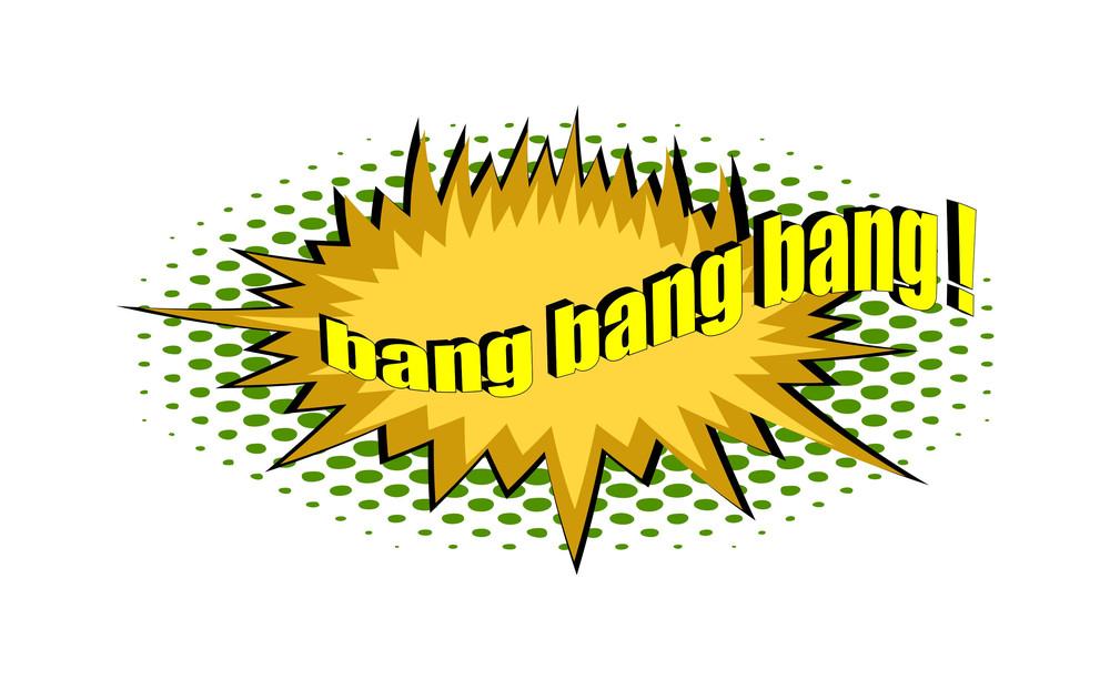 Retro Bang Text Graphic Banner
