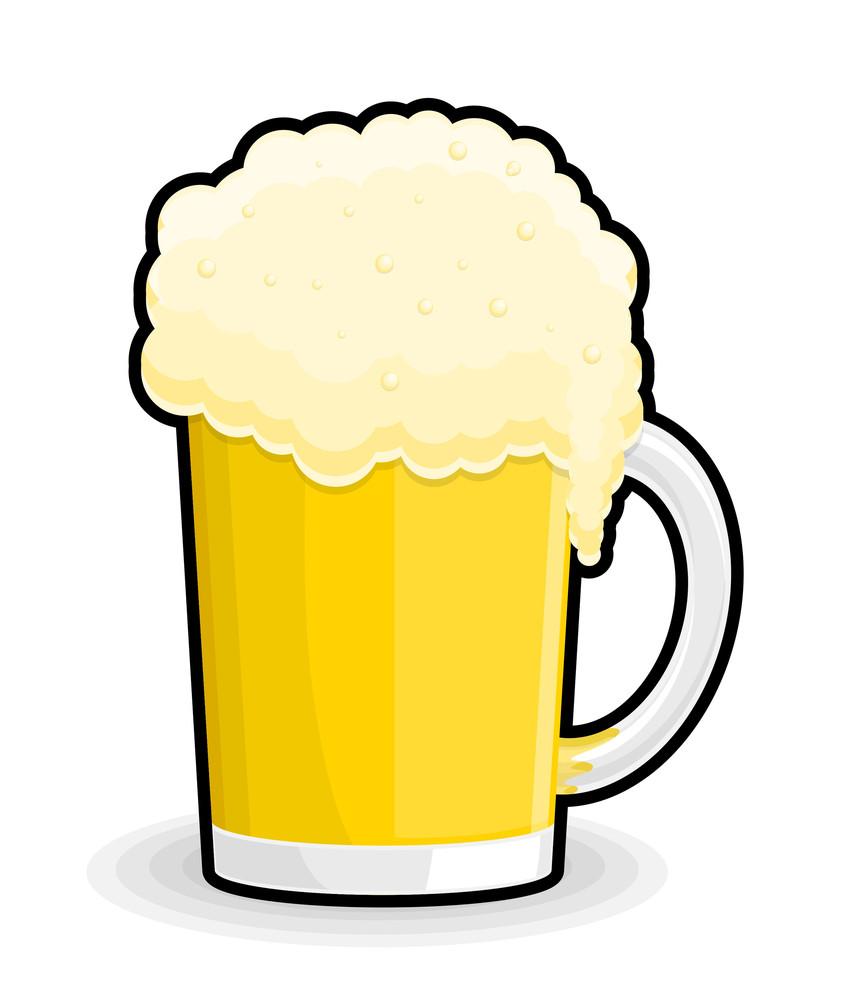 Retro Beer Glass Vector Illustration