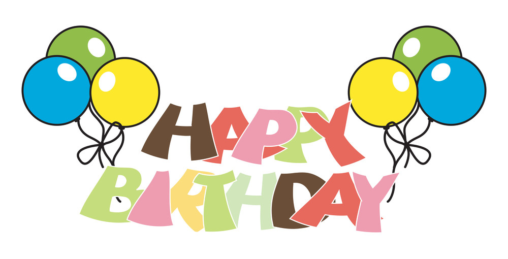 Retro Birthday Balloons Banner Design