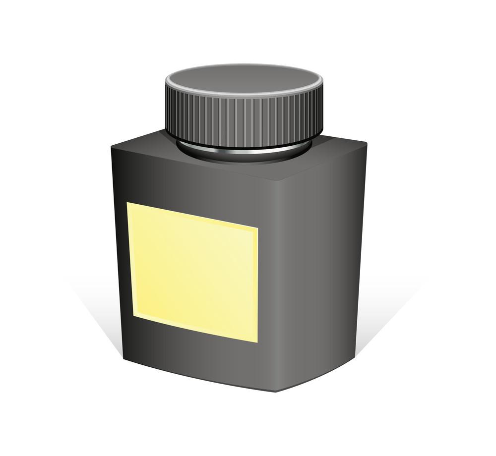 Retro Black Bottle Vector