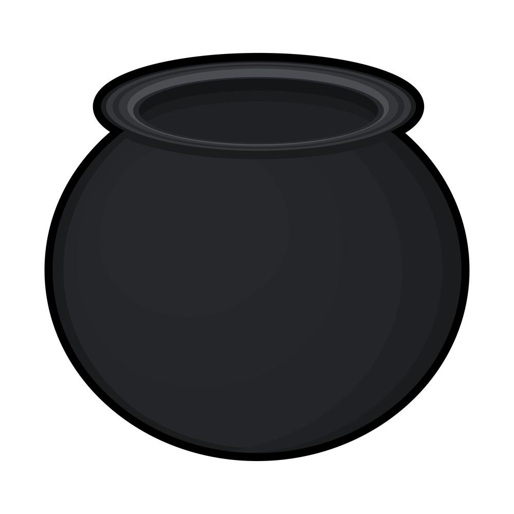 Retro Black Cauldron