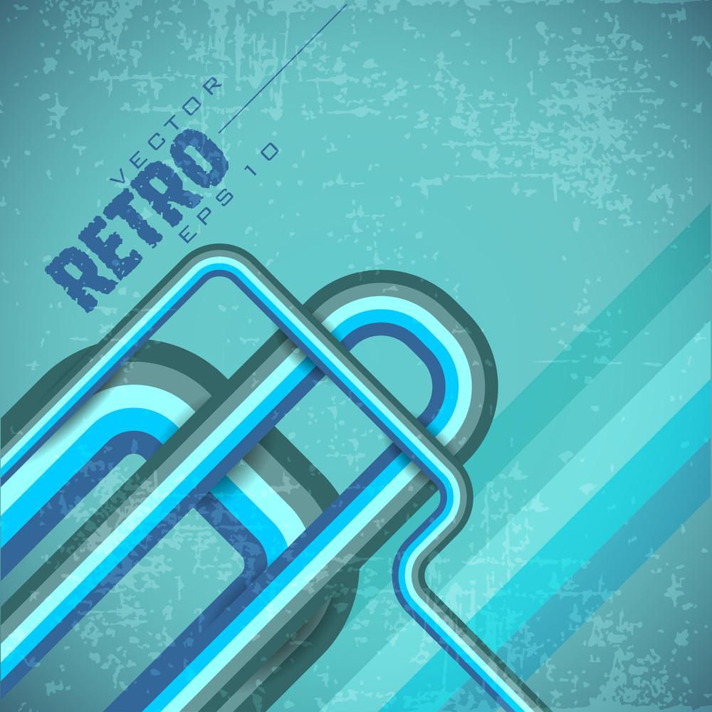 Retro Blue Grunge Background