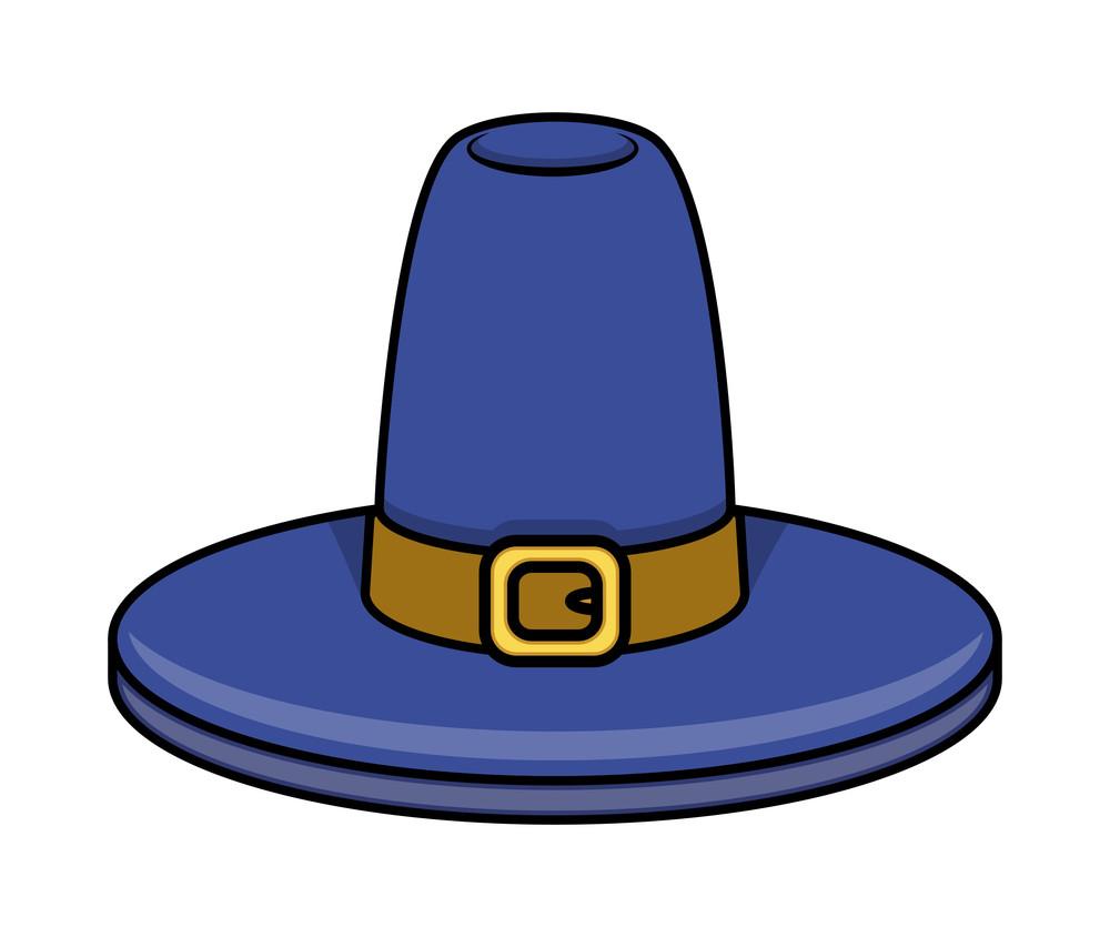 Retro Blue Hat Vector