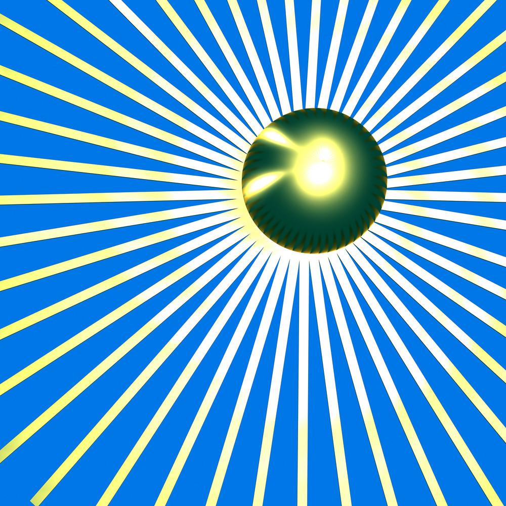 Retro Blue Sunburst