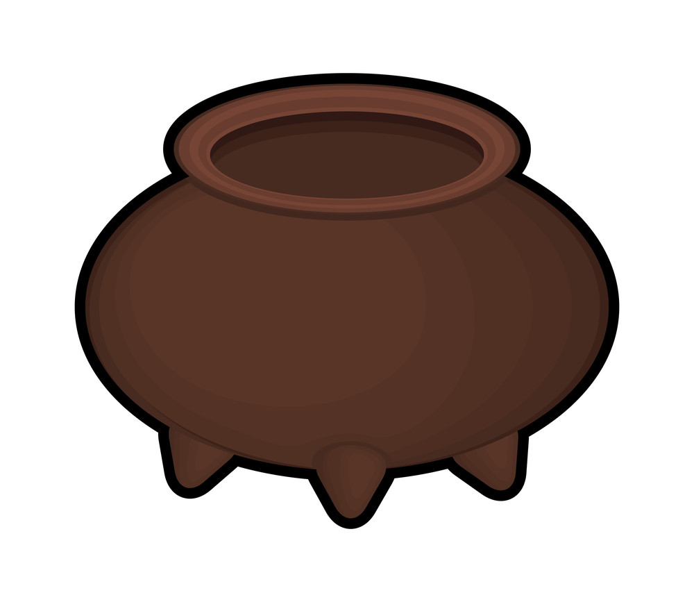 Retro Brown Cauldron Shape